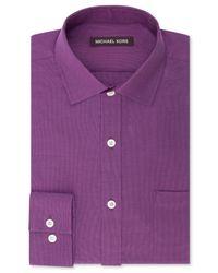 Michael Kors | Purple Textured Solid Dress Shirt for Men | Lyst