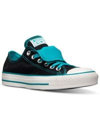 Converse - Black Women'S Chuck Taylor All Star Double Tongue Casual Sneakers From Finish Line - Lyst