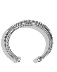 David Yurman | Metallic Crossover Five-row Cuff With Diamonds | Lyst