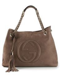 Gucci - Brown Soho Tote - Lyst
