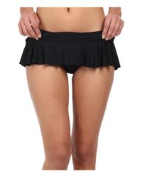 Lauren by Ralph Lauren | Black Laguna Solids Ruffle Skirted Hipster | Lyst