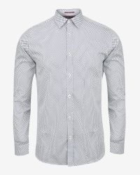 Ted Baker - White Bukfizz Diamond Print Shirt for Men - Lyst