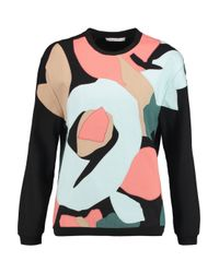 Carven - Black Patchwork Cotton-terry Sweatshirt - Lyst