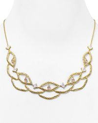 Carolee | Metallic Pavé Frontal Bib Necklace, 17"