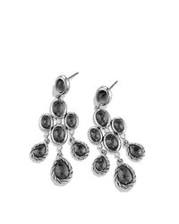 David Yurman - Black Color Classic Chandelier Earrings with Hematine and Diamonds - Lyst