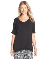 Bollydoll - Black Short Sleeve Top - Lyst