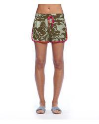 Michael Stars | Green Floral Modern Rayon Shorts | Lyst