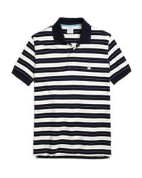 Brooks Brothers - Blue Slim Fit Tipped Collar Stripe Polo Shirt for Men - Lyst