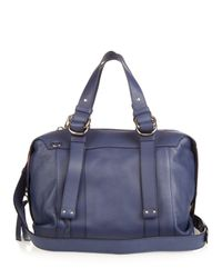 See By Chloé - Blue Grained-leather Bowling Bag - Lyst