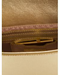 Fendi - Metallic Baguette Leather Shoulder Bag - Lyst