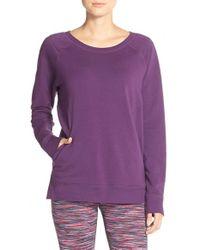 Zella | Purple 'decibel' Pullover Sweatshirt | Lyst