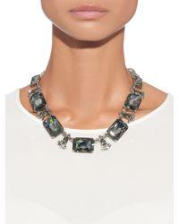Oscar de la Renta - Black Swarovski Crystal Embellished Necklace - Lyst