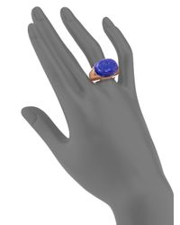 Tory Burch | Blue Lapis Signet Ring | Lyst