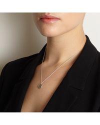 Myia Bonner - Metallic Silver M Facett Initial Necklace - Lyst