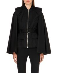 Alexander McQueen - Black Cape-back Wool Jacket - For Women - Lyst