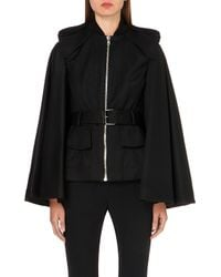Alexander McQueen | Black Cape-back Wool Jacket - For Women | Lyst