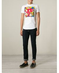 DSquared² - White Printed T-shirt for Men - Lyst