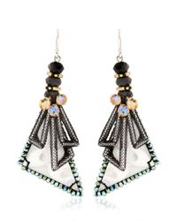 Nocturne | Black Tiebele White Earrings | Lyst