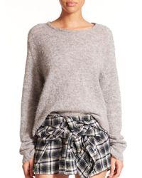 Faith Connexion | Gray Boxy Stretch-alpaca Sweater | Lyst