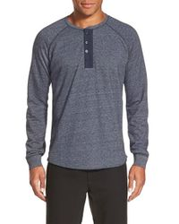 Vince - Blue French Terry Henley for Men - Lyst