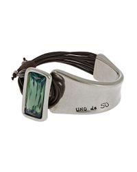 Uno De 50 - Green Rhinestone Bracelet - Lyst