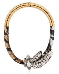 Shourouk | Metallic Aigrette Tiger Necklace | Lyst