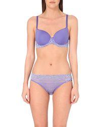 Wacoal | Blue Embrace Lace Contour Bra | Lyst