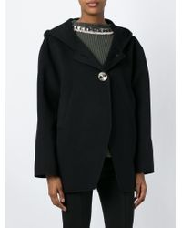 Marni | Black Embellished Button Hooded Jacket | Lyst