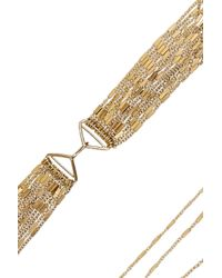 Iam By Ileana Makri - Metallic Chantilly Gold-Plated Necklace - Lyst