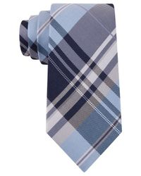 Kenneth Cole Reaction | Blue Plaid Slim Tie for Men | Lyst