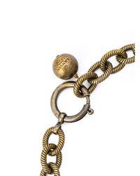 Lanvin - Metallic Swarovski Crystal Embellished Chain Necklace - Lyst