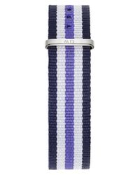 Daniel Wellington | Blue 'classic Trinity' 18mm Nato Watch Strap | Lyst