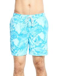 Tommy Bahama - Blue 'naples - Leaf If To Me' Swim Trunks for Men - Lyst