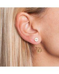 Leivan Kash - Metallic Ava Earring Gold & Pearl - Lyst