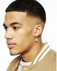Cheap Monday - Metallic Skull Earring Exclusive To Asos for Men - Lyst