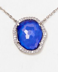 "Nadri - Blue Sterling Silver & Tanzanite Small Pendant Necklace, 16"" - Bloomingdale'S Exclusive - Lyst"