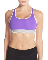 Calvin Klein | Purple 'pulse' Racerback Sports Bra | Lyst