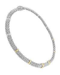 Lagos | Metallic Caviar Diamond Lux Rope Necklace | Lyst
