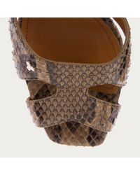 Bally - Multicolor Sabienne Women ́s Python Sandal In Peanut - Lyst