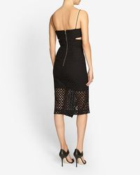 Nicholas - Black Exclusive Broiderie Lace Cut Out Dress - Lyst
