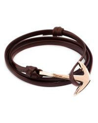 Miansai | Brown Anchor Wrap Bracelet | Lyst