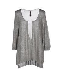 Manila Grace | Gray Sweater | Lyst