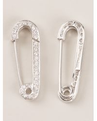 Genevieve Jones - Metallic Safety Pin Earrings - Lyst