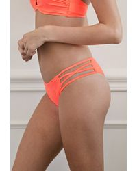 Forever 21 - Pink Strappy Peekaboo Bottoms - Lyst