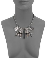 Giles & Brother | Metallic Ray Burst Pave Crystal Bib Necklace | Lyst