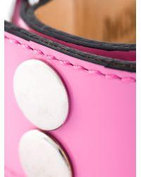 Moschino - Pink Logo Plaque Cuff - Lyst