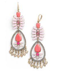 Kent & King | Pink Crystal Chandelier Earrings | Lyst
