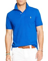 Ralph Lauren | Blue Polo Custom Mesh Polo Shirt – Slim Fit for Men | Lyst