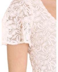 Badgley Mischka - White Flutter Sleeve - Lyst