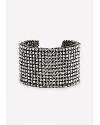 Bebe | Metallic Crystal Mesh Cuff | Lyst